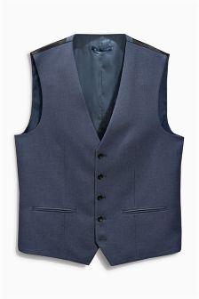 Light Blue Birdseye Suit: Waistcoat