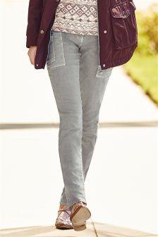 Zip Pocket Cargo Skinny Trousers