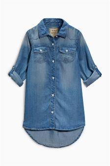 Dark Denim Shirt Dress (3-16yrs)