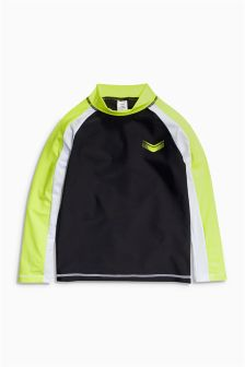 Black Long Sleeve Rash Vest (3-16yrs)