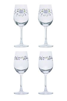 Set Of Crystal Imogen Wine Glasses