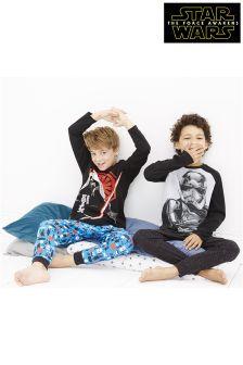 Star Wars™ Drop Crotch Pyjamas Two Pack (3-12yrs)