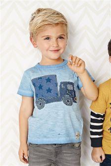 Blue Truck Short Sleeve T-Shirt (3mths-6yrs)