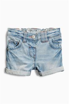 Bleach Wash Denim Shorts (3mths-6yrs)