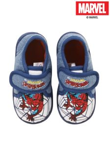 Blue Spiderman Slippers (Younger Boys)