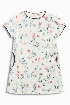 Cream Floral Ponte Dress (3mths-6yrs)