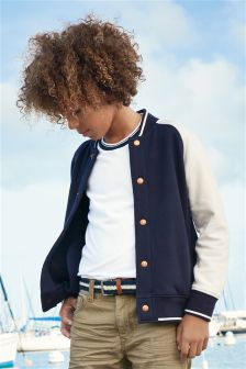 Navy Letterman Jacket (3-16yrs)