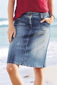 Buy long denim skirts online in india | Global trend skirt blog