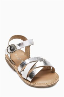 Metallic Leather Sandals (Younger Girls)
