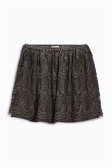 Grey Lace Skirt (3-16yrs)