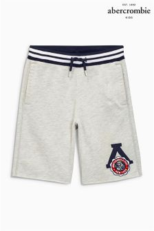 Grey Abercrombie & Fitch Jersey Short