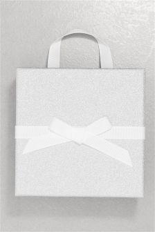 Silver Medium Glitter Gift Box