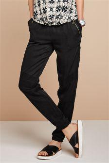 Black Utility Taper Trousers