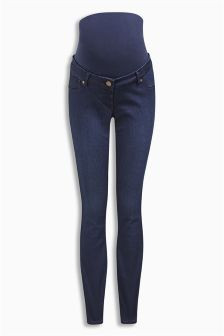 Over The Bump Denim Leggings