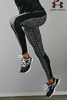 Black Under Armour Run Print Flyby Legging