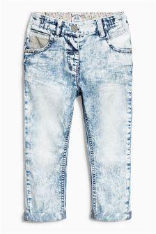 Light Blue Crochet Trim Jeans (3mths-6yrs)