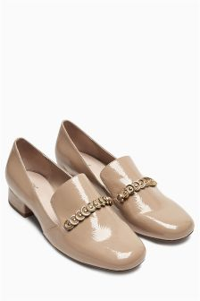 Chain Trim Loafers