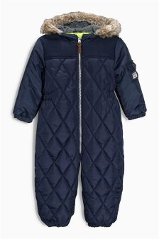 Navy Quilted Snowsuit (3mths-6yrs)