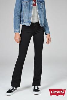 Black Levi's® 715 Boot Cut Jean
