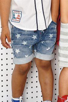 Blue Star Print Shorts (3mths-5yrs)