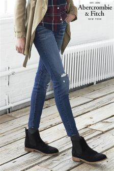Mid Wash Abercrombie & Fitch High Rise Skinny Jean