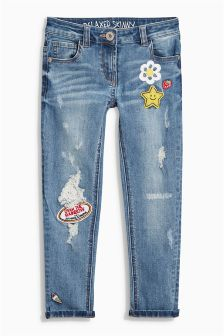 Mid Blue Badge Jeans (3-16yrs)