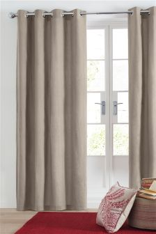 Cotton Eyelet Lined Curtains