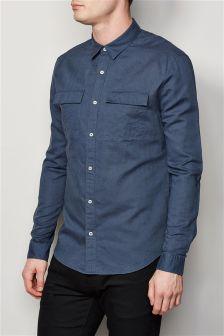 Long Sleeve Utility Linen Rich Shirt