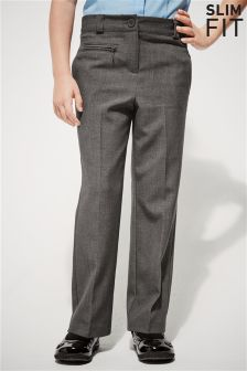 Smart Zip Detail Trousers (3-16yrs)