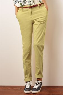 Belted Chinos