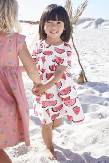 Ecru Watermelon Dress (3mths-6yrs)