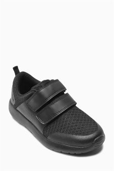 Black Retro Trainers (Older Boys)