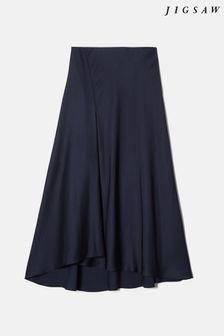Blue Check Slim Fit Suit: Waistcoat