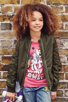 Khaki Bomber Jacket (3-16yrs)