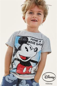 Grey Mickey Mouse™ Short Sleeve T-Shirt (3mths-6yrs)