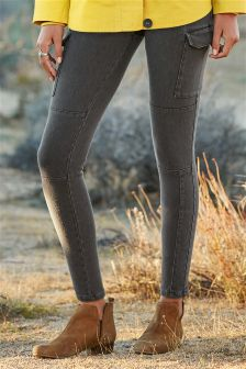 Denim Utility Leggings