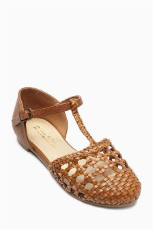 Woven T-Bar Shoes (Older Girls)