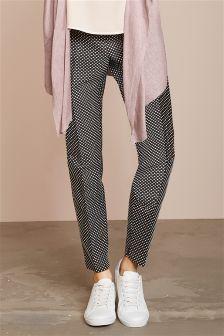 Jacquard Spot Trousers