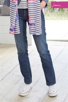 Mid Wash Joules Bridgette Straight Jean