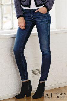 Denim Mid Blue Armani Jeans Skinny Jean