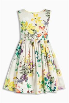 Ecru Floral Prom Dress (3mths-6yrs)