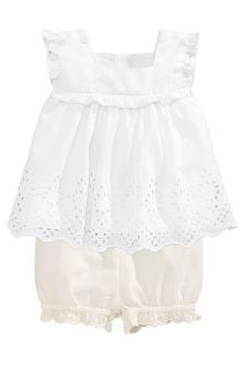 White Broderie Blouse And Bloomer Set (0mths-2yrs)