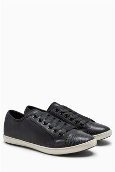 Slim Lace-Up Trainers