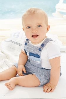 Blue Whale Appliqué Dungarees (0mths-2yrs)