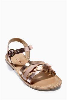Metallic Leather Sandals (Older Girls)