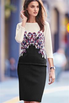 Black Rib Skirt