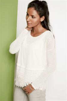 Sheer Knit Look Layer Top