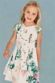 Ecru Floral Prom Dress (3-14yrs)