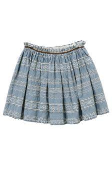 Denim Embroidered Flippy Skirt (3-16yrs)