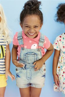 Bleach Wash Dungarees (3mths-6yrs)